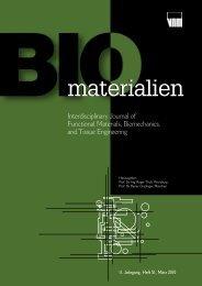 materialien - Biomaterials 2010 - Universität Duisburg-Essen