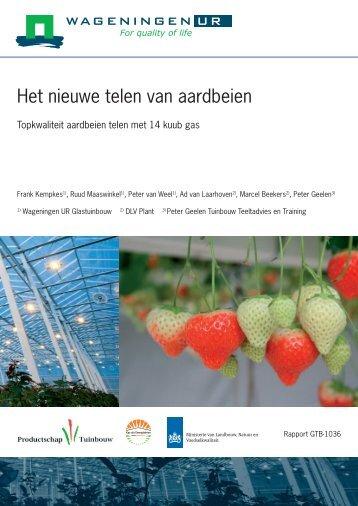 Het nieuwe telen van aardbeien - Energiek2020