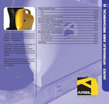 JACKS - Arbil Lifting Gear