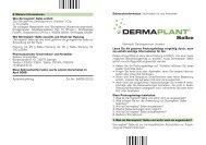 Gebrauchsinformation - Dermaplant