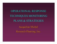 operational response techniques monitoring plans & strategies