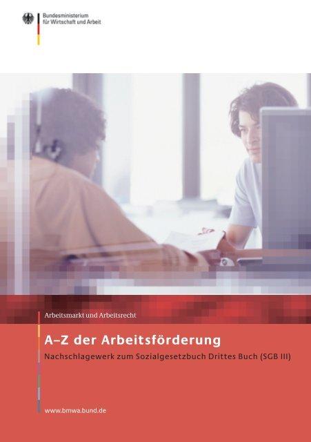 A–Z der Arbeitsförderung