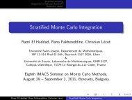 Stratified Monte Carlo Integration