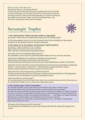 Nervoregin® Tropfen - Homöopathisches Laboratorium A. Pflüger