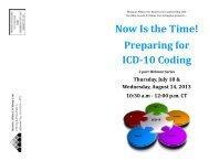 Preparing for ICD-10 Brochure.pub - Missouri Alliance for Home Care