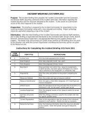INCIDENT BRIEFING (ICS FORM 201)