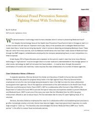 National Fraud Prevention Summit: Fighting Fraud With Technology
