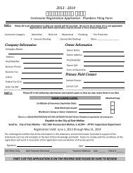 2013 Contractor Registration Packet - City of East Moline