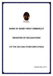 Register of Delegations - April 2001