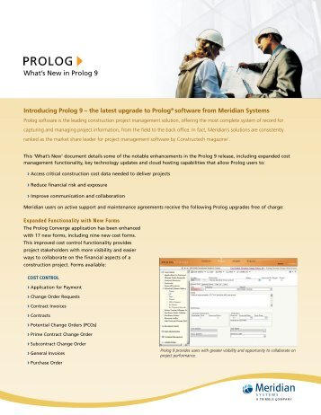 What's New in Prolog 9 - Kelar Pacific