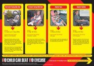Child seat-weight chart (pdf) - Road Safety Authority