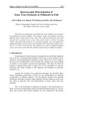 Spectroscopic Determination of Some Trace Elements as ... - Eg-MRS