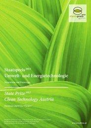 Staatspreis 2012 - Preisträgerbroschüre - Haus der Zukunft