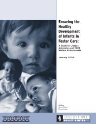 Ensuring the Healthy Development of Infants in Foster Care: A ...