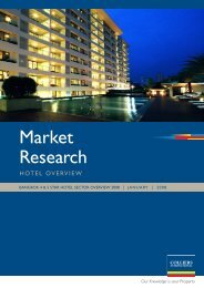 Market Research BANGKOK 4 & 5 STAR HOTEL SECTOR ... - Colliers