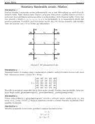 Soustavy lineárních rovnic. Matice.