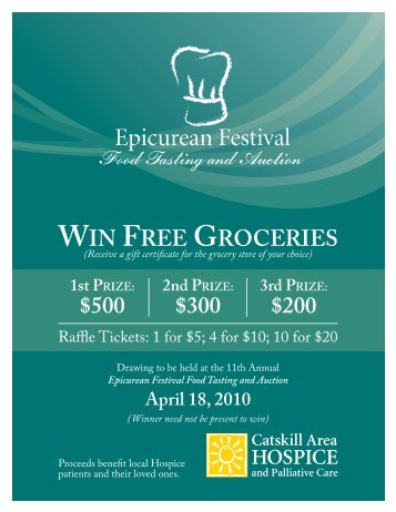 win free groceries $500 $300 $200 - Catskill Area Hospice and ...