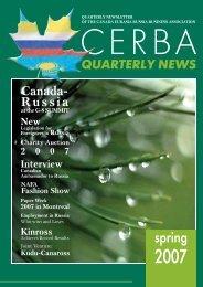 CERBA Quarterly News (spring 2007) - Canada Eurasia Russia ...