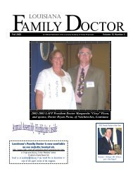 AMILY OCTOR - Louisiana Academy of Family Physicians