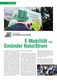 E-Mobilität und Gmünder NaturStrom