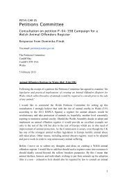 Consultation Response – PET(4)CAR 05 - Senedd.assemblywales.org