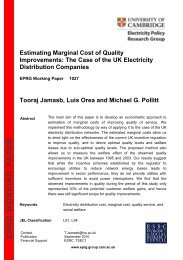Estimating Marginal Cost of Quality Improvements - Electricity Policy ...