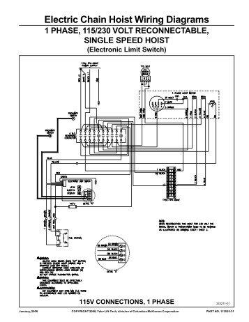 wire rope hoist wiring diagram wiring diagram rh blaknwyt co 120 Volt Hoist Motor Wiring House AC Wiring Diagram