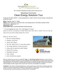 Clean Energy Solutions Tour - Solar Schoolhouse