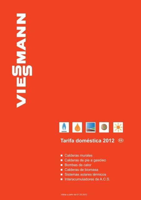 Tarifa Calefacción doméstica VIESSMANN 2012 - GlobalTradex