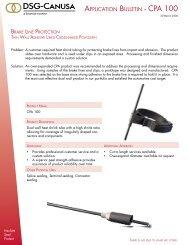APPLICATION BULLETIN - CPA 100 - DSG-Canusa