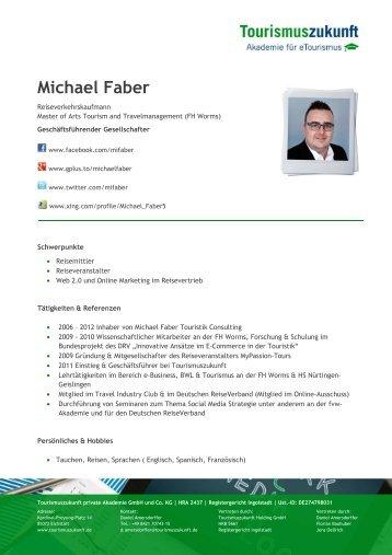 Profil von Michael Faber als pdf-Dokument - Tourismuszukunft