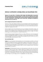 Download Corporate News - Delticom