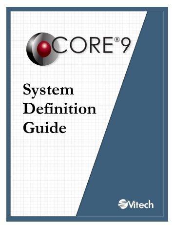 CORE System Definition Guide - Vitech Corporation