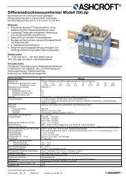 Datenblatt DXLdp - Ashcroft Instruments GmbH