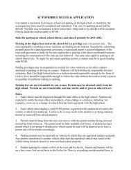 AUTOMOBILE RULES & APPLICATION - Park City High School ...