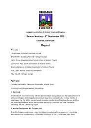 Bureau Meeting Sept - European Association of Historic Towns ...