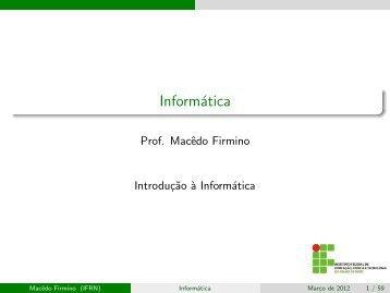 Informática - Ifrn