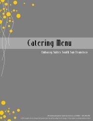 Catering menu - Breaks - Embassy Suites