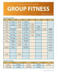 GROUP FITNESS - YMCAs
