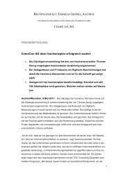 Lesen Sie mehr in der vollständigen Pressemitteilung - bei Mönning ...