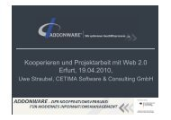 Vortrag CETIMA Software & Consulting GmbH - addonware
