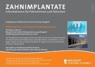 ZAHNIMPLANTATE - Implantat Stiftung Schweiz