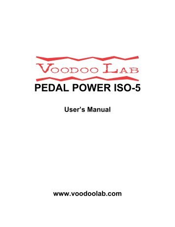 voodoo lab iso 5 manual