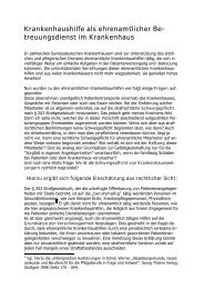 treuungsdienst im Krankenhaus - Institut für Pflegerecht und ...