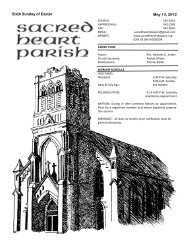 Sixth Sunday of Easter May 13, 2012 - the Sacred Heart Parish of ...