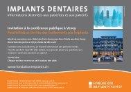 IMPLANTS DENTAIRES - Implantat Stiftung Schweiz