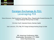 Foreign Exchange & FIX: Leveraging FIX