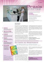 Ausgabe 21 / 2011 - Schwerpunktpraxis für Hämatologie und ...