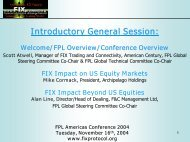 FPL Americas Conference 2004 Tuesday, November 16th, 2004 ...