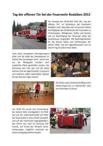 Tag der offenen Tür bei der Feuerwehr Rodalben 2012